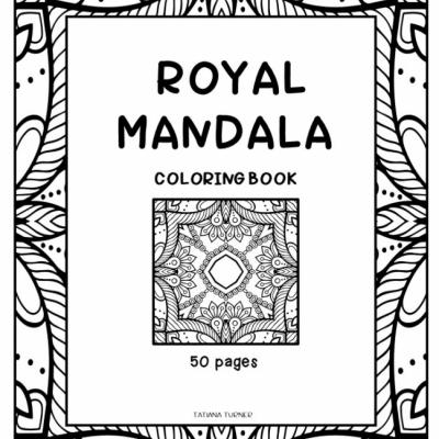 Royal Mandala - omaľovanky