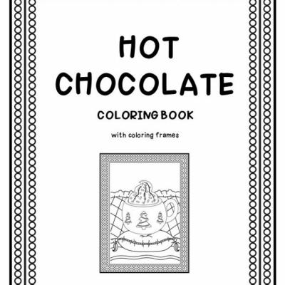Horúca čokoláda - omaľovanky