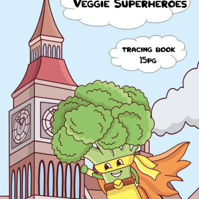 Veggie Superheroes - activity book