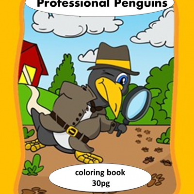 Professional Penguins - omaľovanky