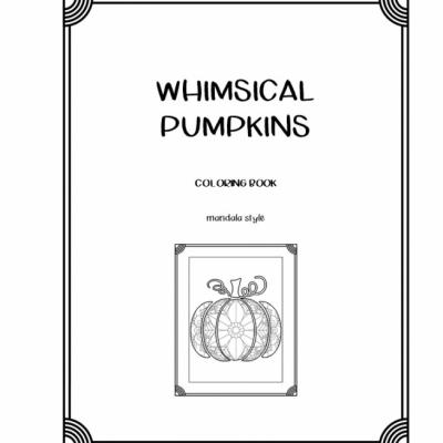 Whimsical Pumpkins - omaľovanky