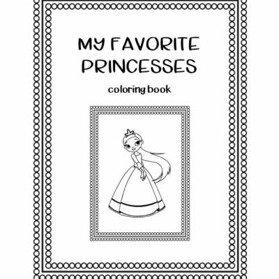 Princezny - omaľovanky