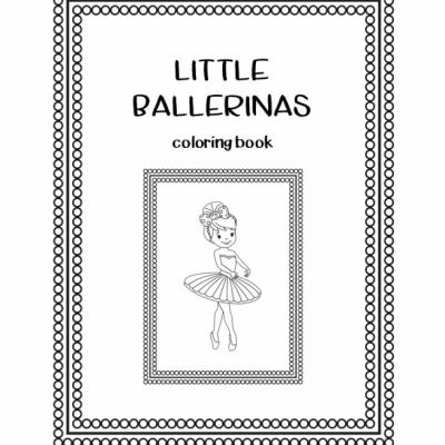 Little Ballerinas - omaľovanky