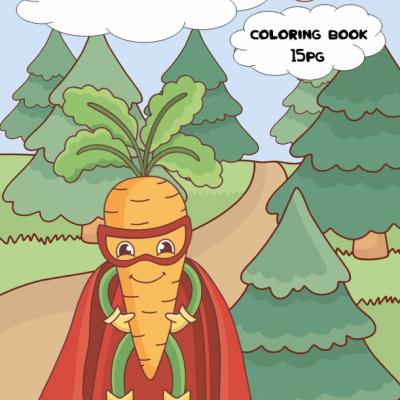 Veggie Superheroes - omaľovanky