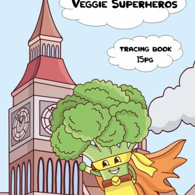 Veggie Superheroes - tracing book