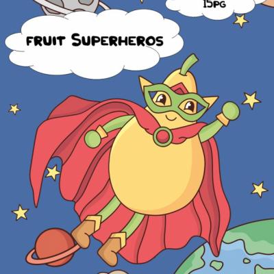 Fruit Superheroes - tracing book
