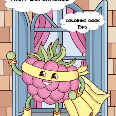 Fruit Superheroes - omaľovanky