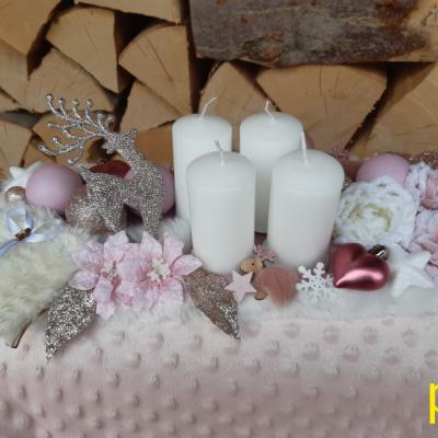 Bielo- ružový advent