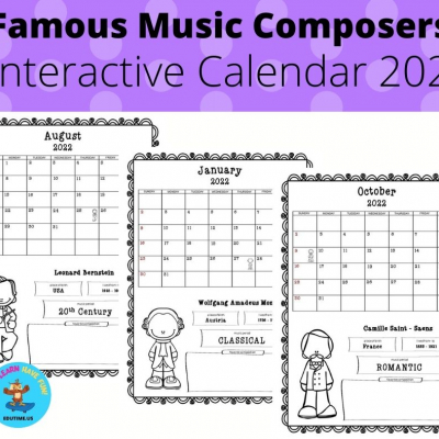Famous Music Composers - Interactive Calendar 2022