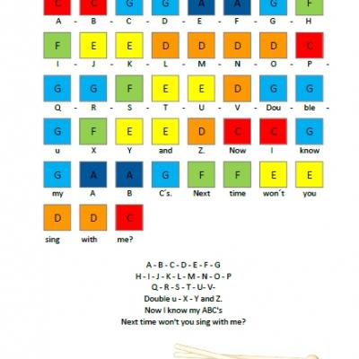 Music- predloha na hru na xylofóne (B)- Anglické detské piesne a koledy