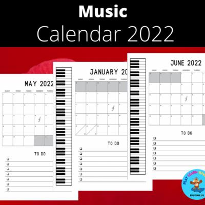 Music - Calendar 2022