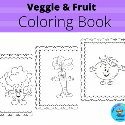 Zeleninka a Ovocie - omaľovanky