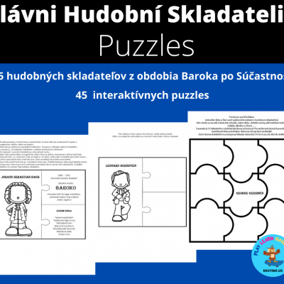 Slávni Hudobní Skladatelia -  interaktívne puzzles