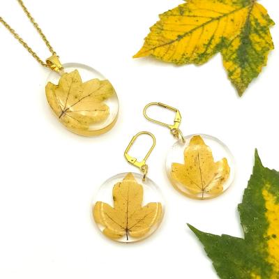 Živicová jesenná súprava _ Set listov jesene