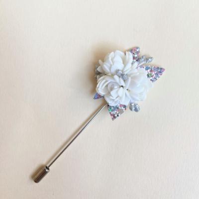 Brošňa Biely kvet