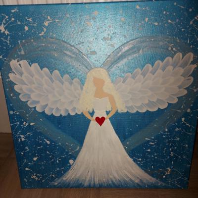 Maľovaný Anjel strážny