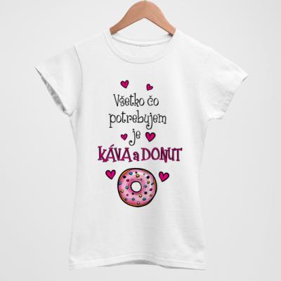 Káva a donut