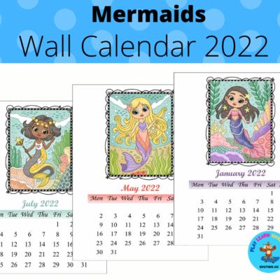 Mermaids - wall calendar 2022