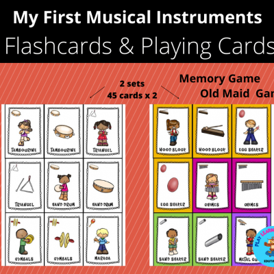 My First Musical Instruments - Flashcards, Playing Cards