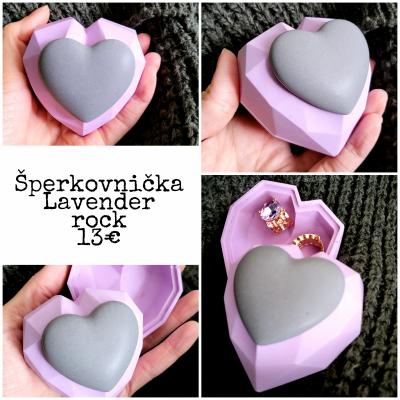 Jesmonite sperkovnicka rock lavender
