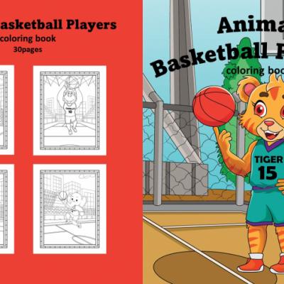 Animal Basketball Players - omaľovanky