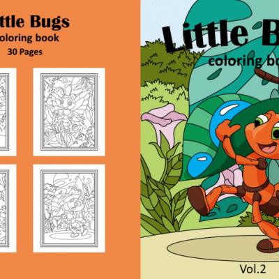 Little Bugs - Vol.2 - omaľovanky