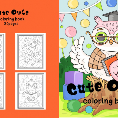 Cute Owls  - omaľovanky