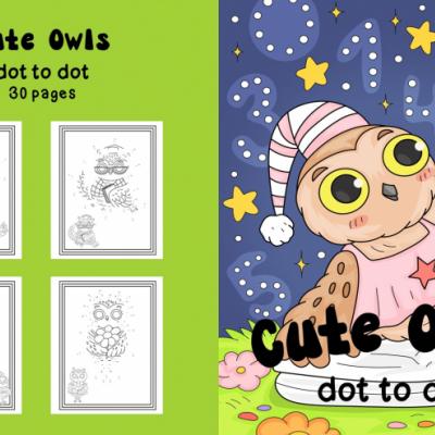 Cute Owls - activity book