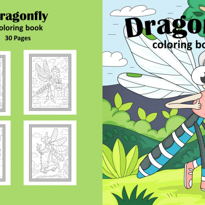 Dragonfly - omaľovanky