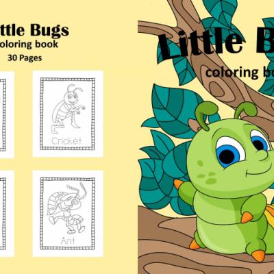Little Bugs - Vol.1 - omaľovanky