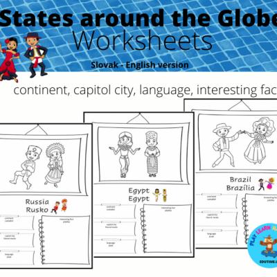 States Around The Globe - pracovné listy