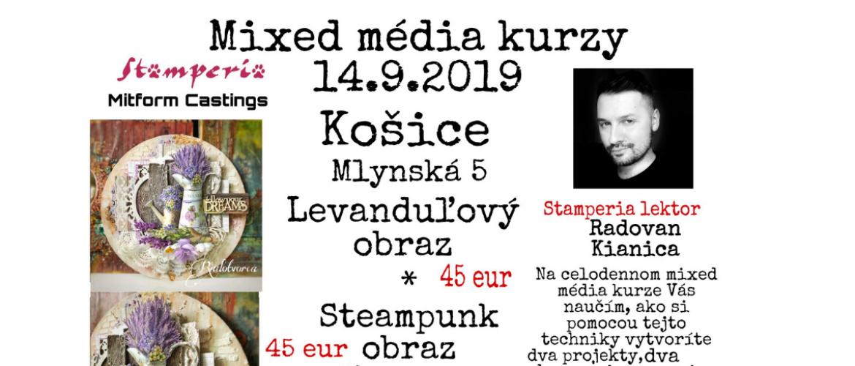 Mixed média kurzy 14.9.2019 v Košiciach